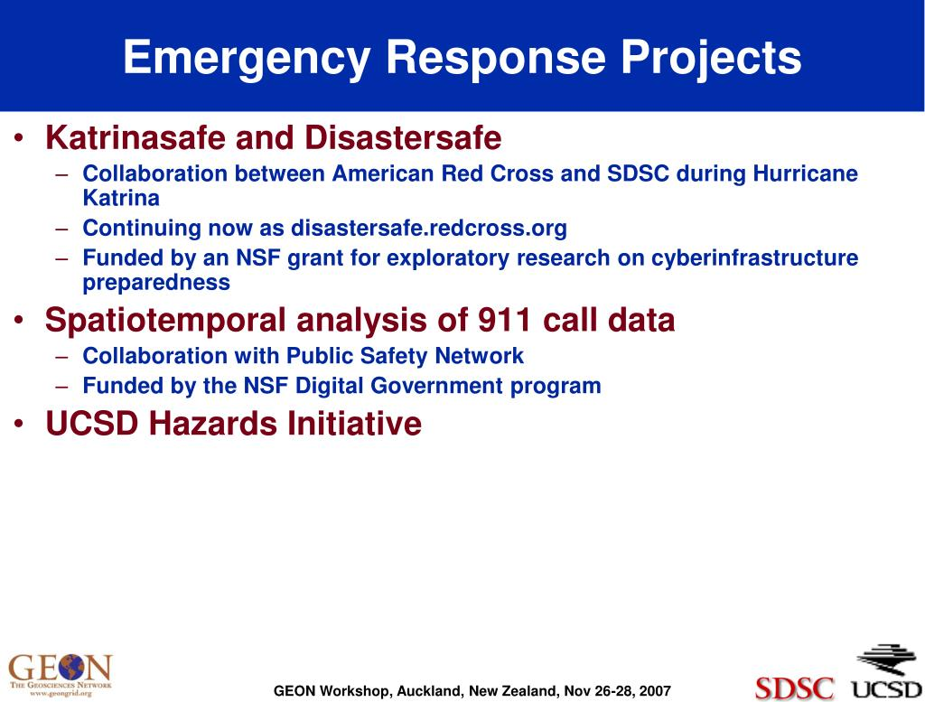 Emergency Response Projects