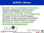 gleon s mission