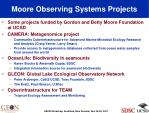 moore observing systems projects