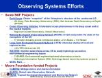observing systems efforts