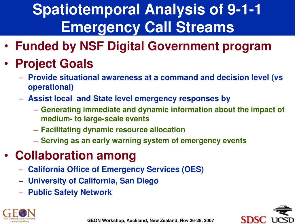 Spatiotemporal Analysis of 9-1-1 Emergency Call Streams
