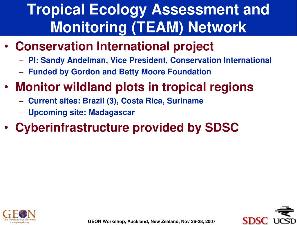 Tropical Ecology Assessment and Monitoring (TEAM) Network