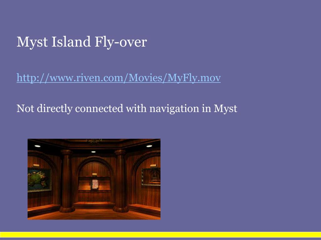 Myst Island Fly-over