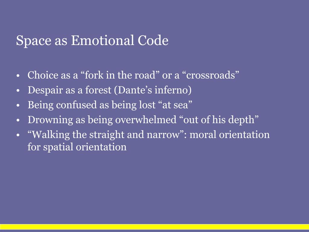 Space as Emotional Code