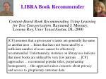 libra book recommender