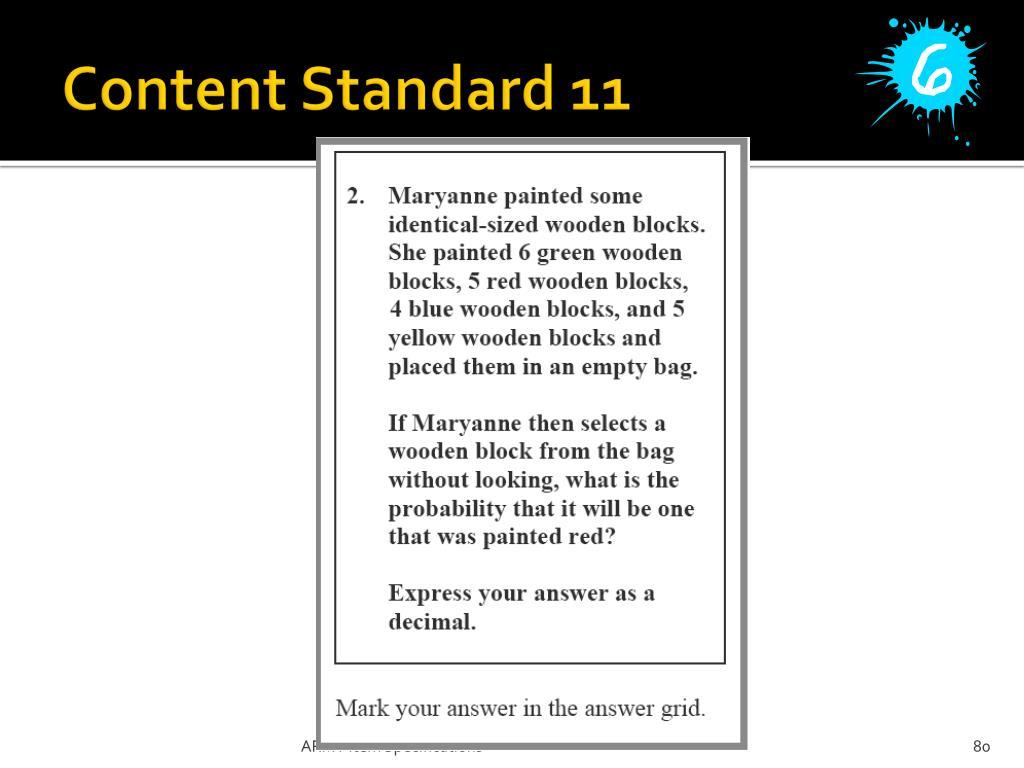 Content Standard 11