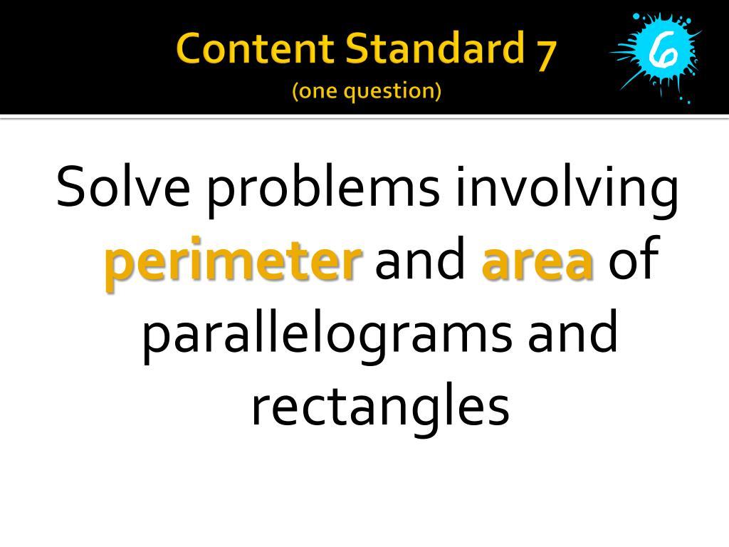 Content Standard 7