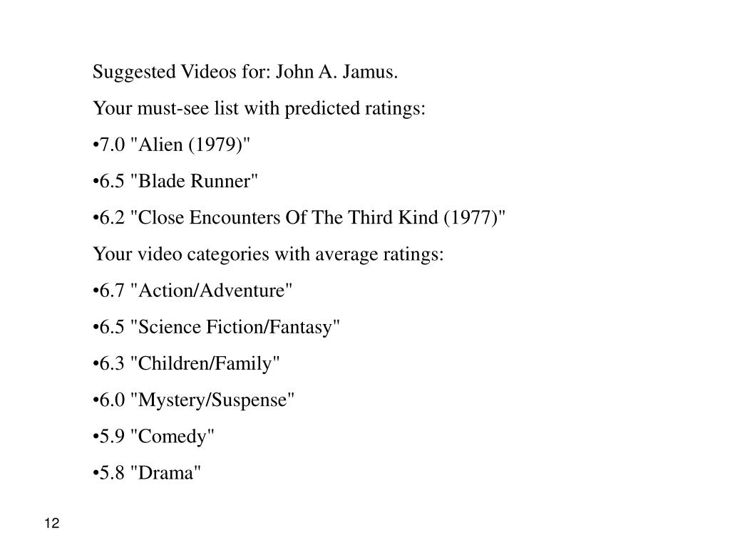 Suggested Videos for: John A. Jamus.