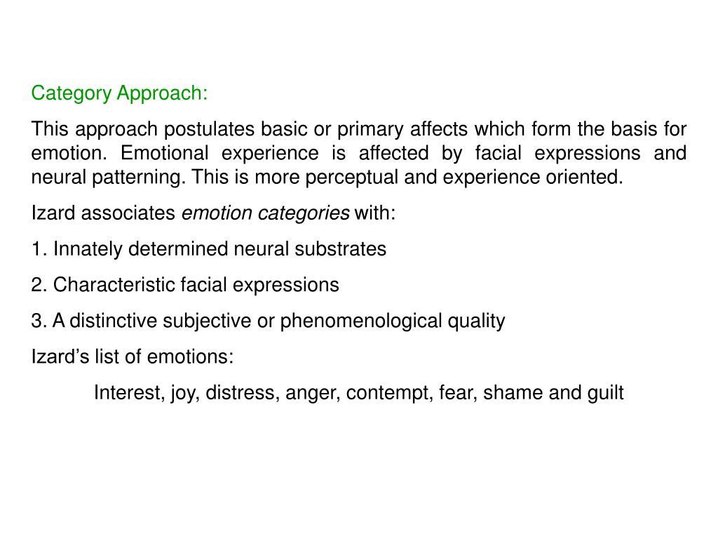 Category Approach: