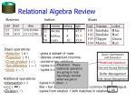 relational algebra review