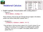 relational calculus14