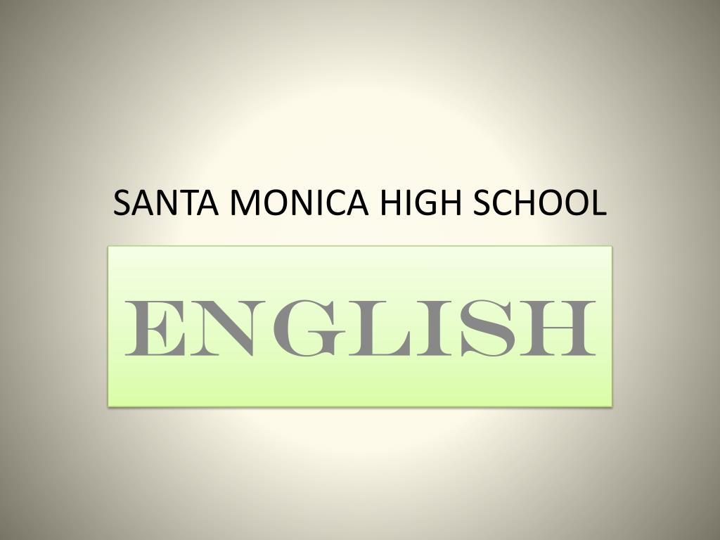 santa monica high school l.