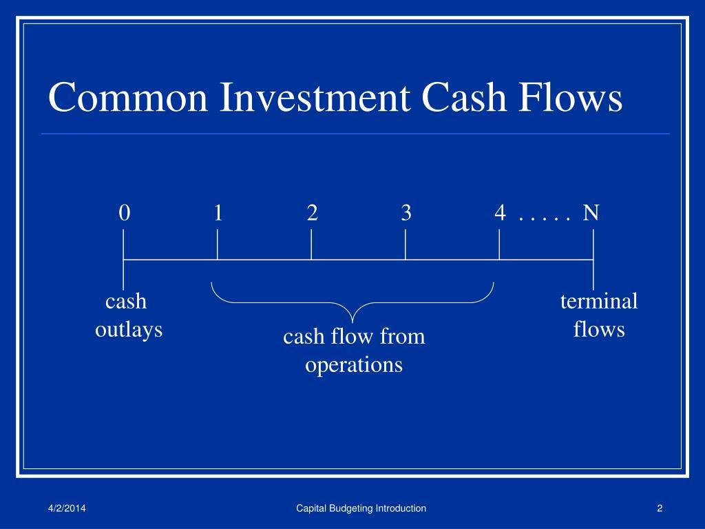 Common Investment Cash Flows