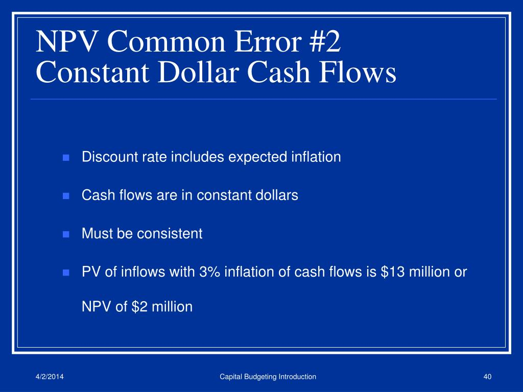 NPV Common Error #2