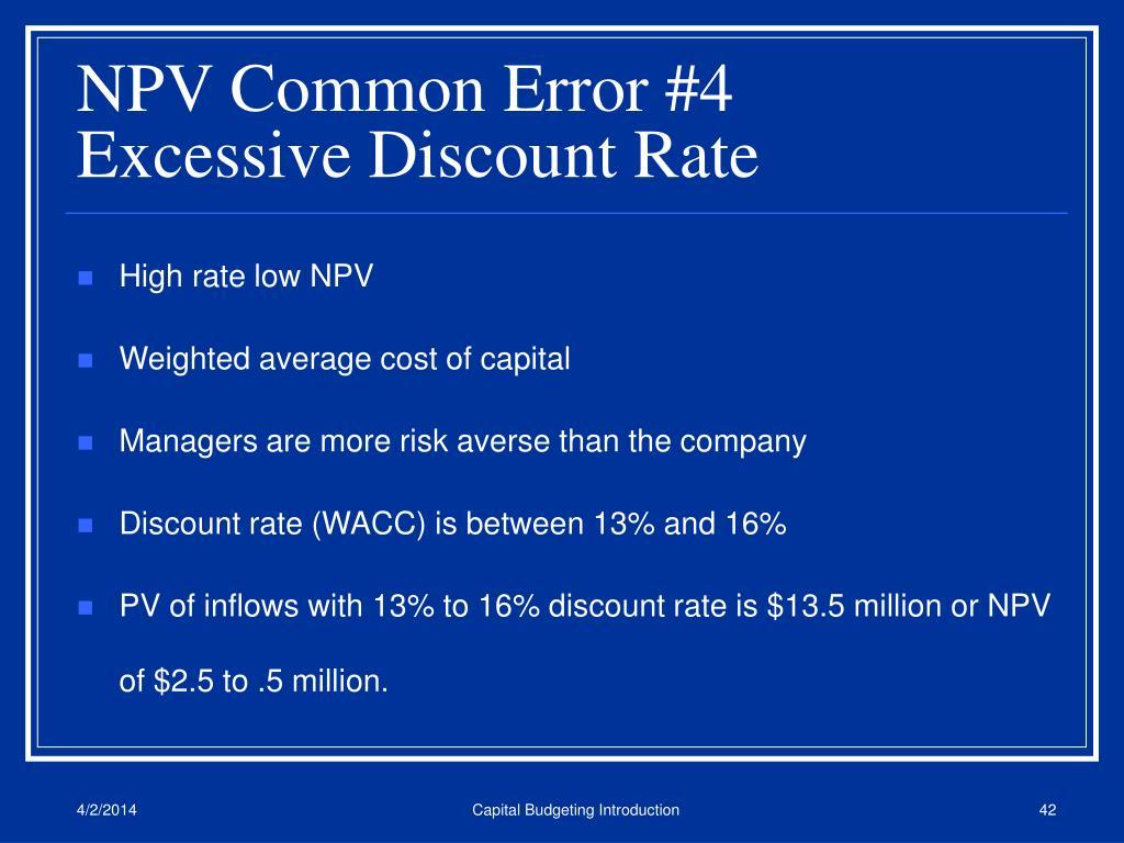 NPV Common Error #4