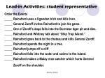 lead in activities student representative