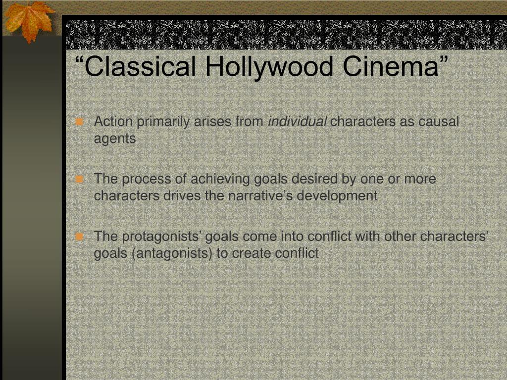 """Classical Hollywood Cinema"""