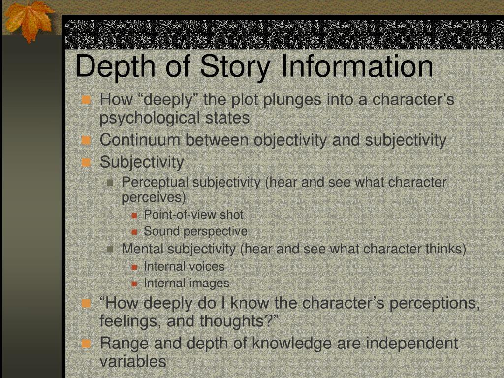Depth of Story Information