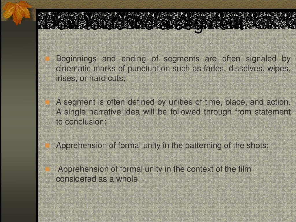 How to define a segment