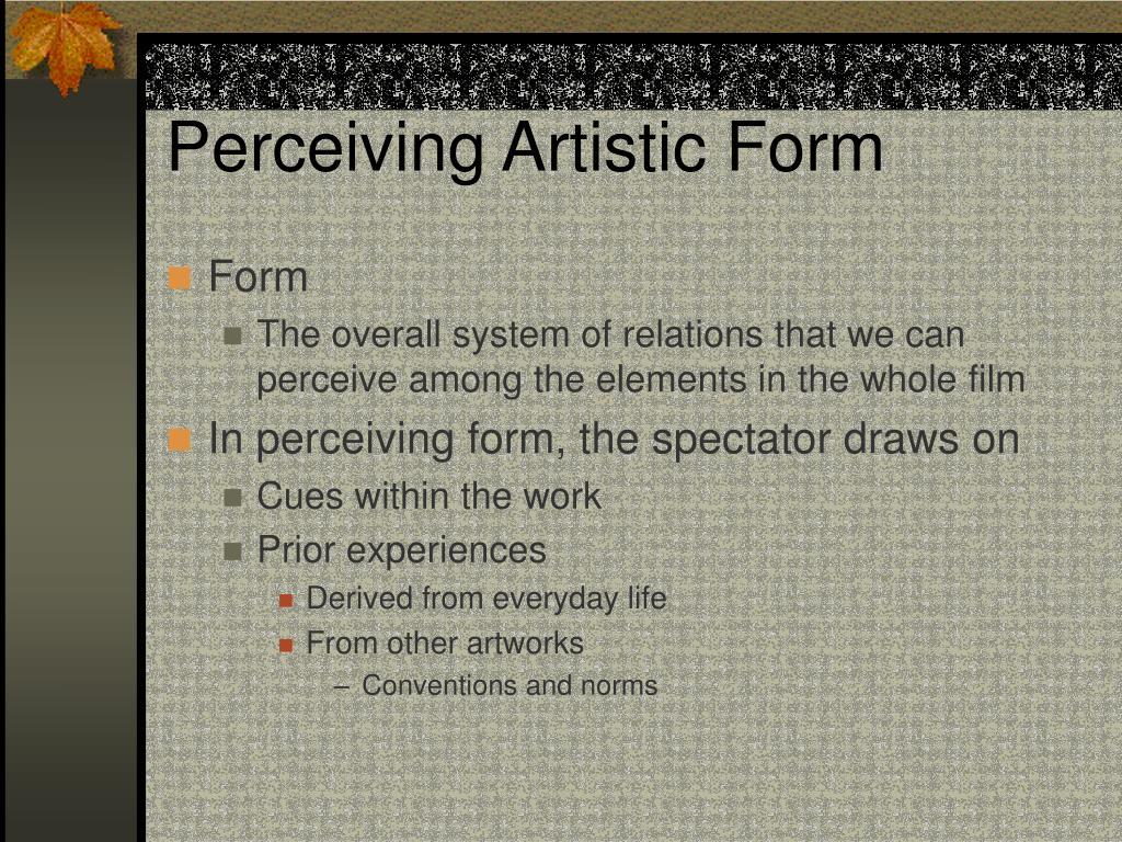 Perceiving Artistic Form