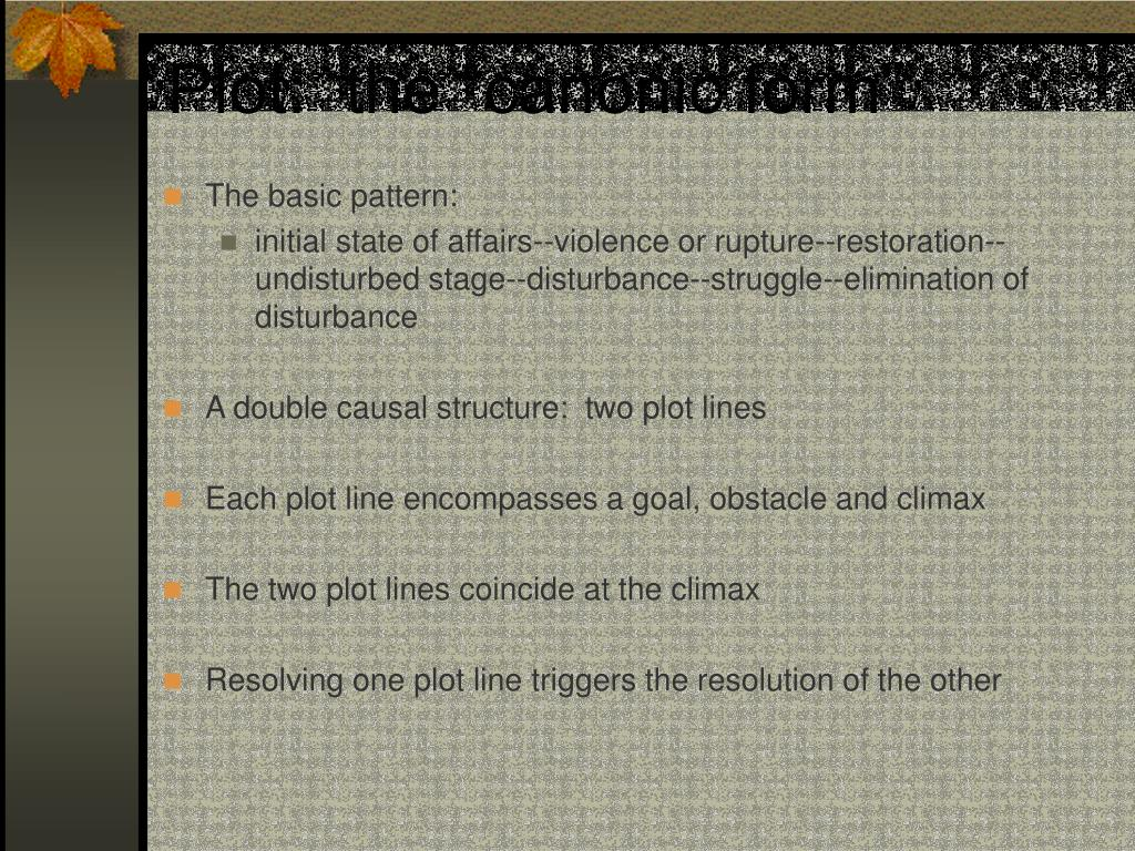 "Plot:  the ""canonic form"""