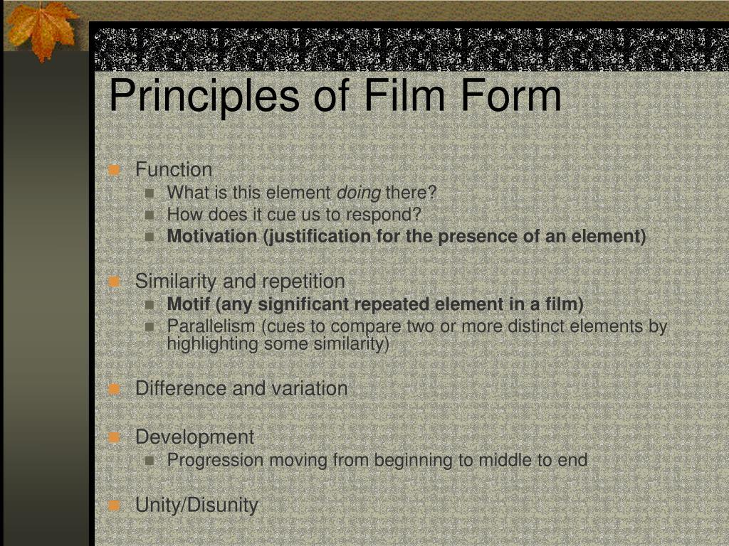 Principles of Film Form