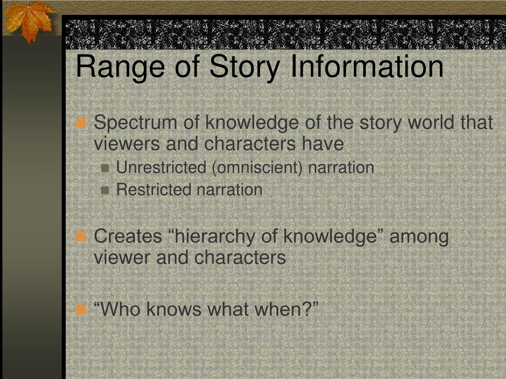 Range of Story Information