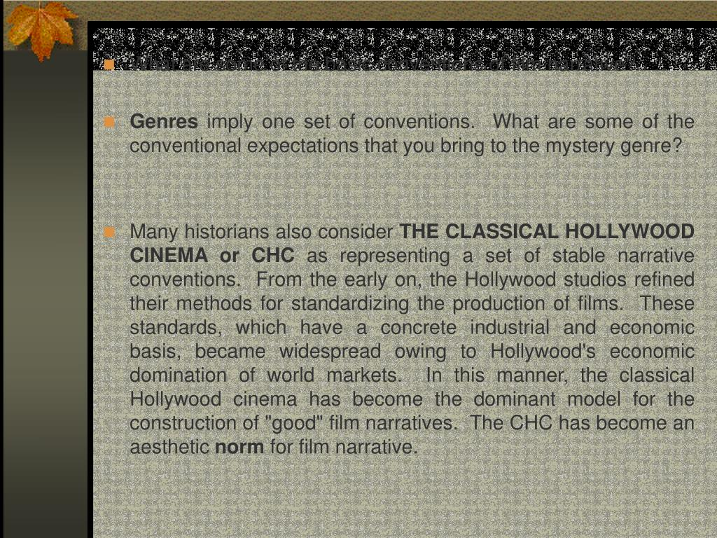 What are some of the basic conventions of film narrative?