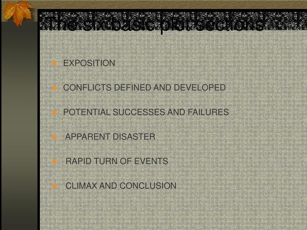 The six basic plot sections