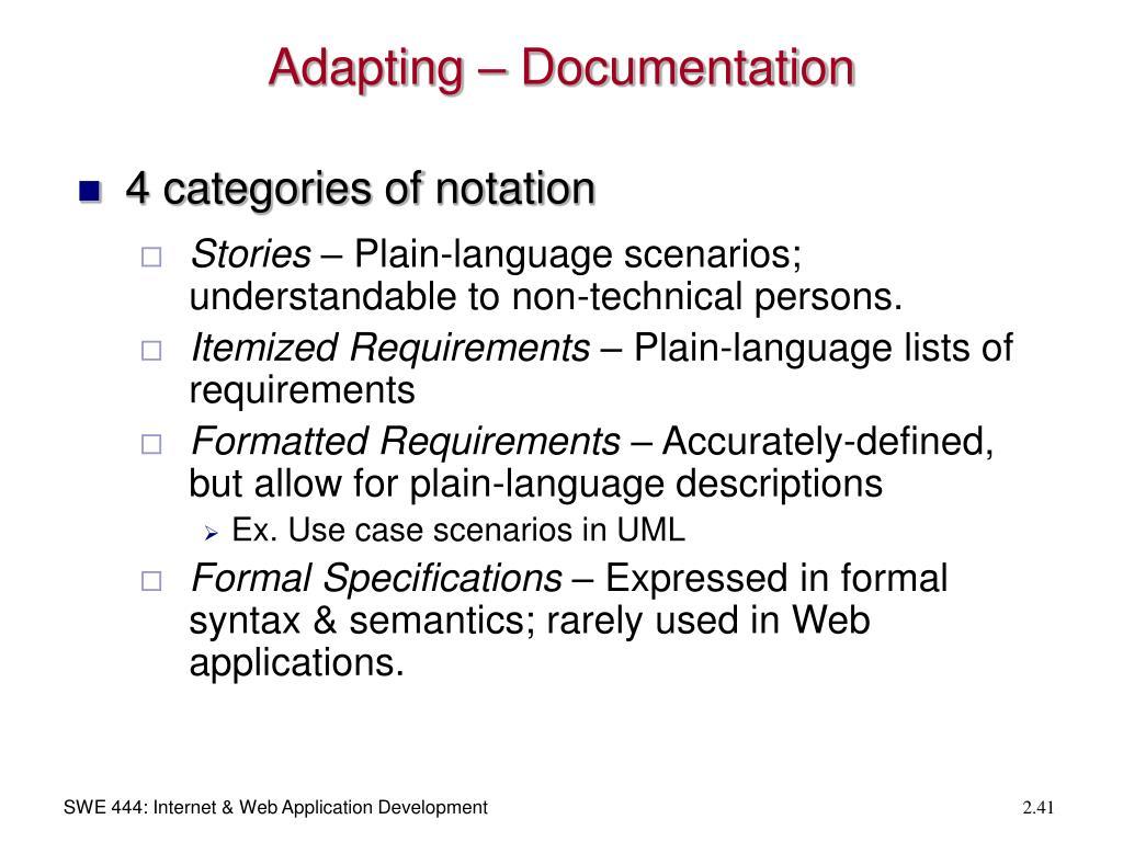 Adapting – Documentation