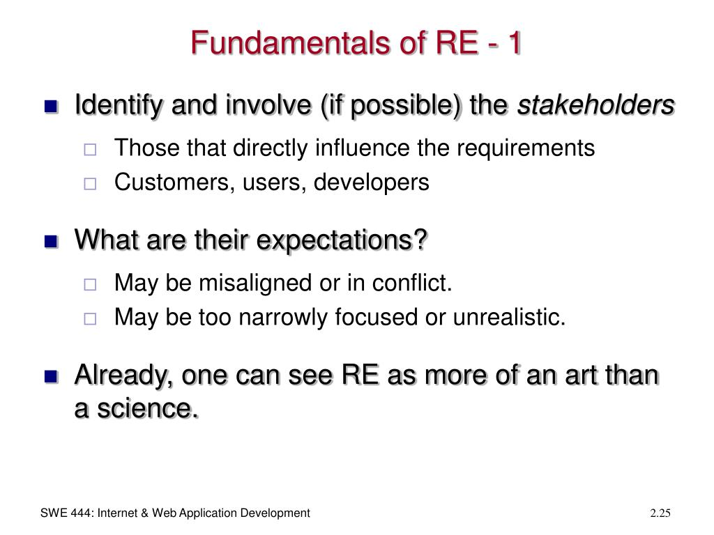 Fundamentals of RE - 1