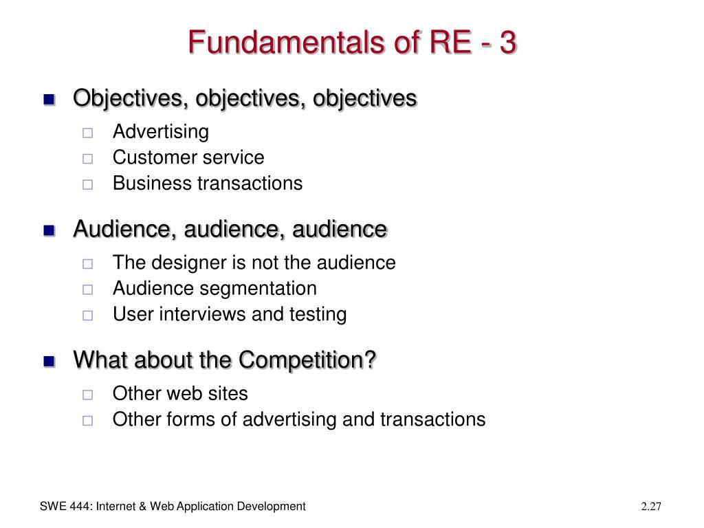 Fundamentals of RE - 3