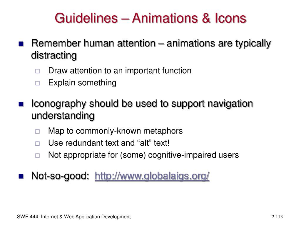 Guidelines – Animations & Icons