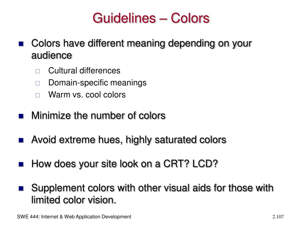 Guidelines – Colors