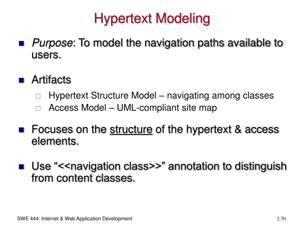 Hypertext Modeling