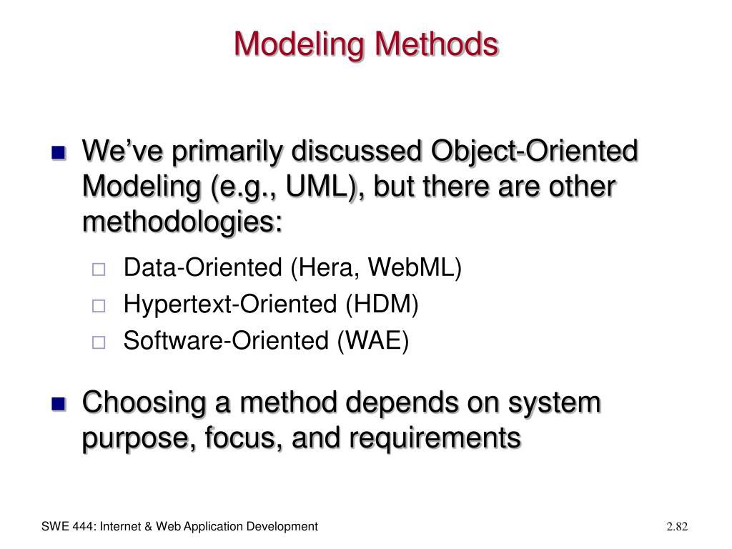 Modeling Methods