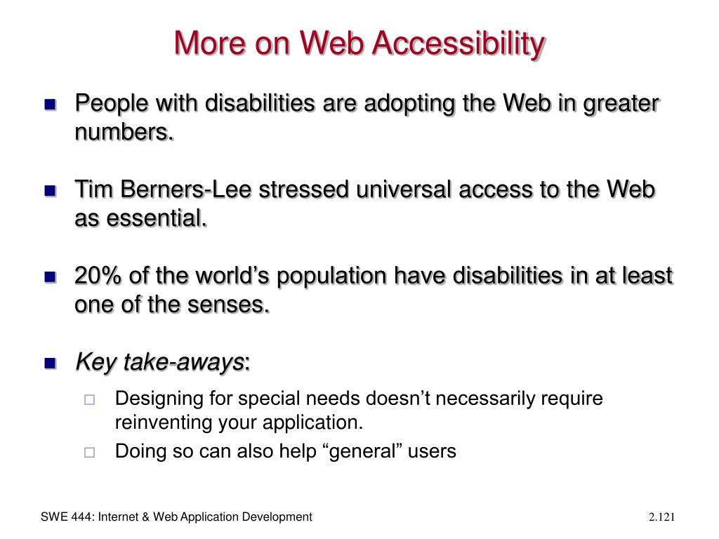 More on Web Accessibility