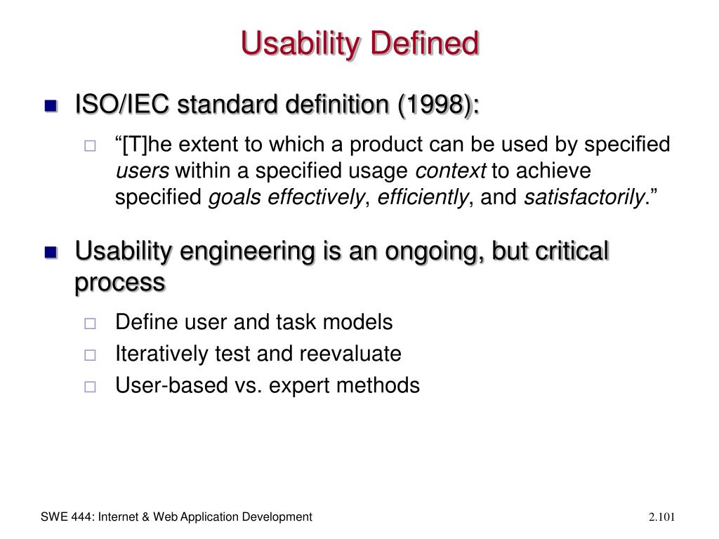 Usability Defined