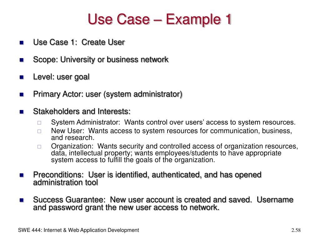 Use Case – Example 1