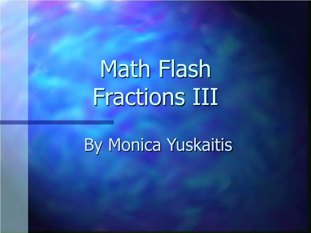 math flash fractions iii l.
