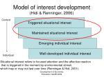 model of interest development hidi renninger 2006