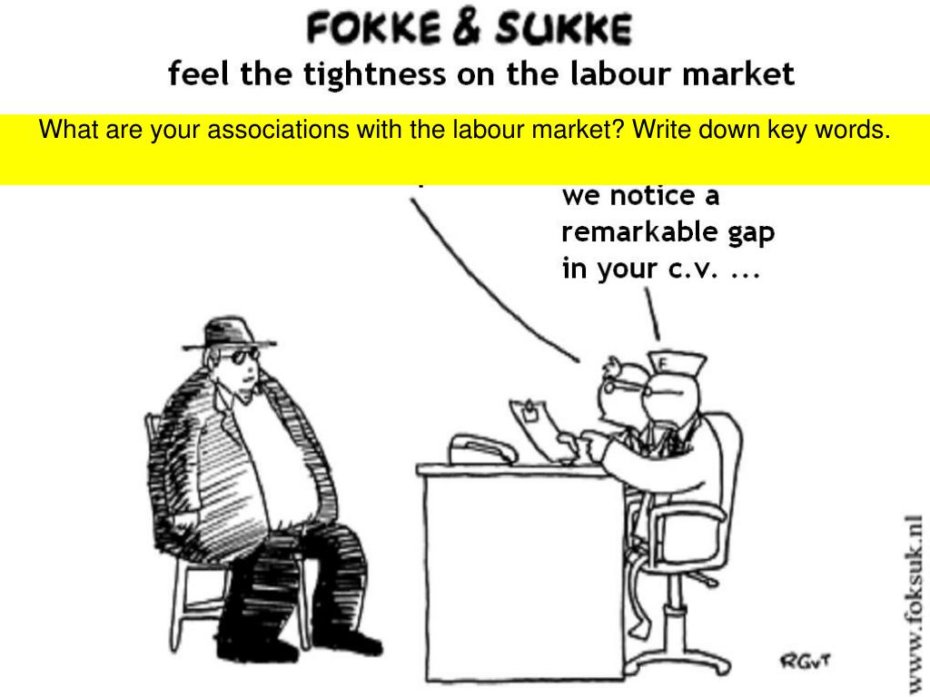 What are your associations with the labour market? Write down key words.
