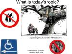 what is today s topic