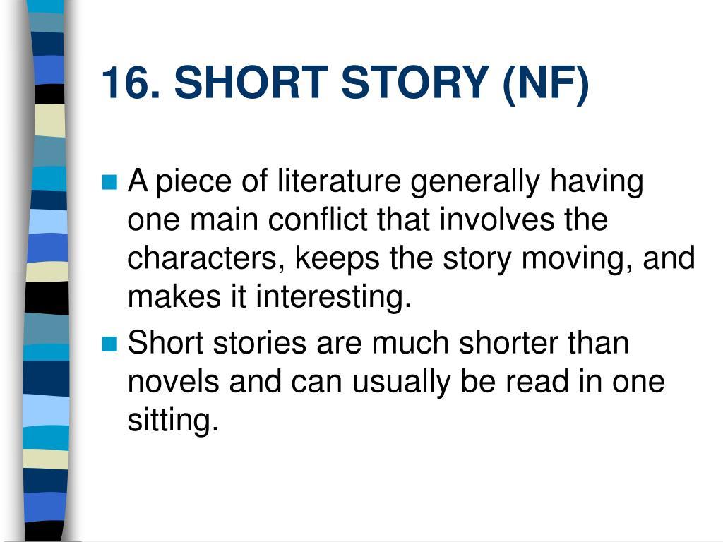 16. SHORT STORY (NF)