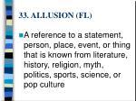 33 allusion fl