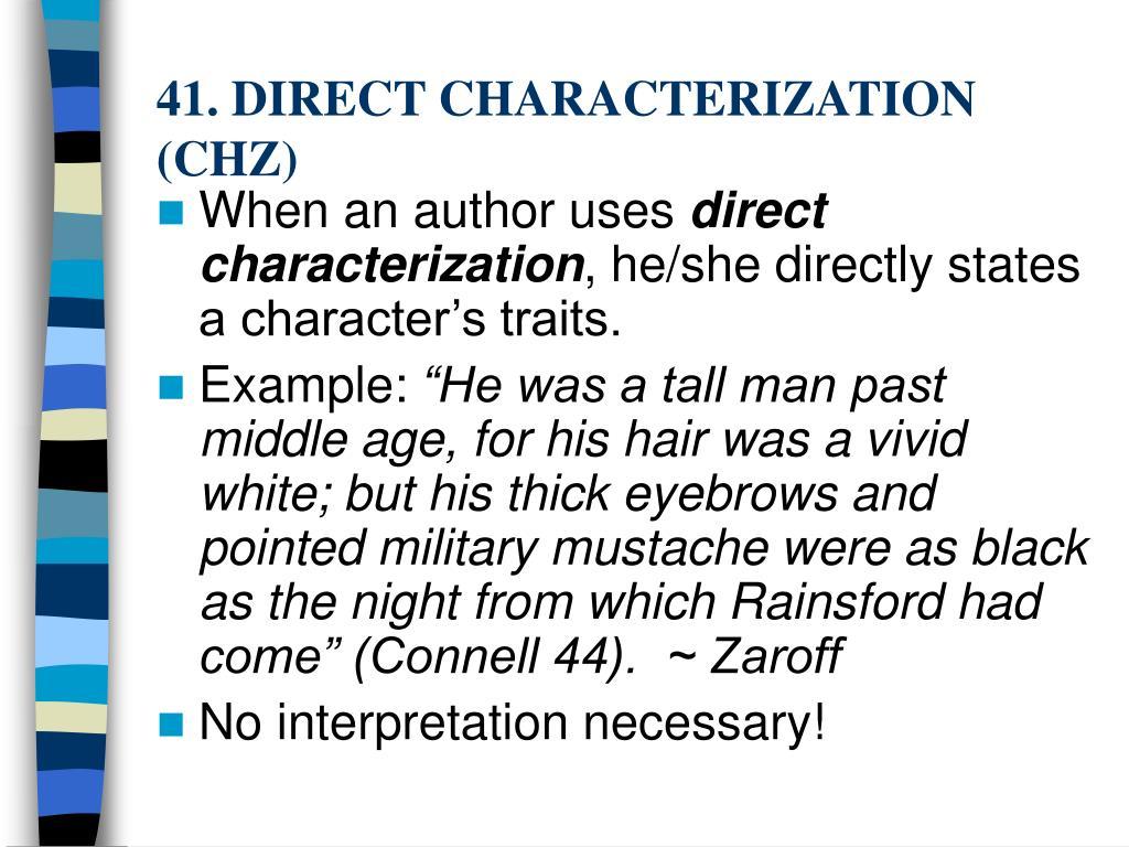 41. DIRECT CHARACTERIZATION (CHZ)