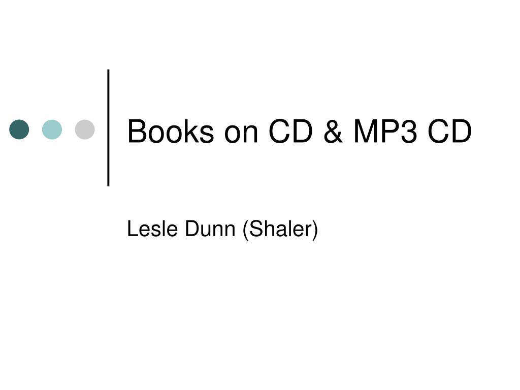 Books on CD & MP3 CD
