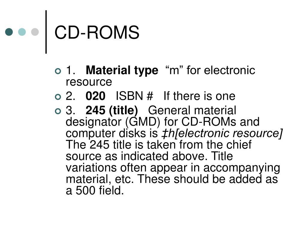 CD-ROMS
