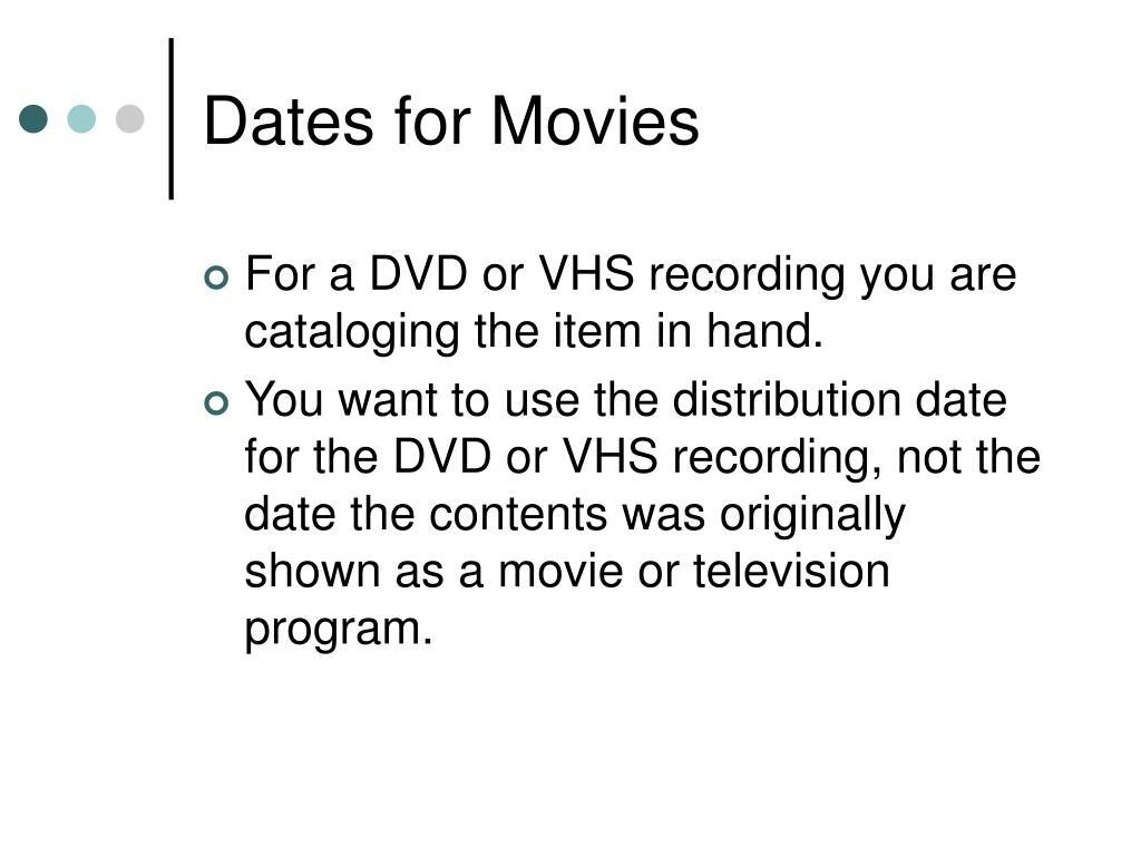 Dates for Movies