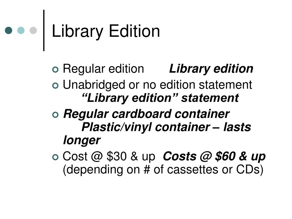 Library Edition
